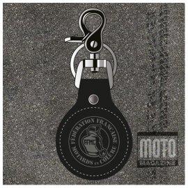 Porte-clef vintage en cuir FFMC - Motard en Colère