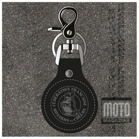 Porte-clef en cuir FFMC - Motard en Colère