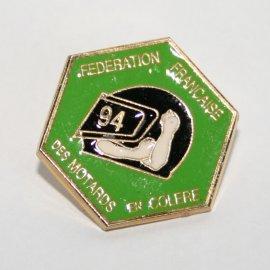"""Pin's moto FFMC 1994 : """"Anti-vignette"""""""
