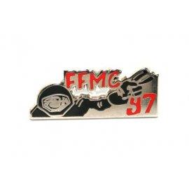 """Pin's moto FFMC 1997 : """"Salut motard !"""""""