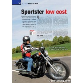 Essai HONDA VT 750 S : Sportster low cost (2010)