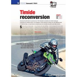 Essai KAWASAKI Z 750 R (2011) : Timide reconversion