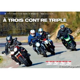 Essai HONDA CB 1000 R ABS - KAWASAKI Z 1000 - MV 990 R - TRIUMPH 1050 Speed Triple ABS (2011)