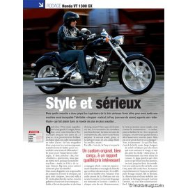 Essai HONDA VT 1300 CX : Stylé et sérieux (2010)