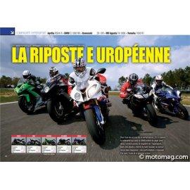 Europe vs Japon (2010) : APRILIA RSV4-R - BMW S 1000 RR - KAWA ZX-10R - MV F4 1000 - YAM R1