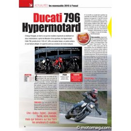 Essai DUCATI 796 Hypermotard (2009) : Ludique