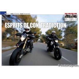 Essai APRILIA 750 Dorsoduro - DUCATI 796 Hypermotard : Esprit de contradiction (2010)