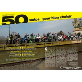 Essai guide d'achat (2011) : 50 motos testées Triumph 1050 Speed Triple - Kawasaki Z 1000 - Honda CBF 600 S…