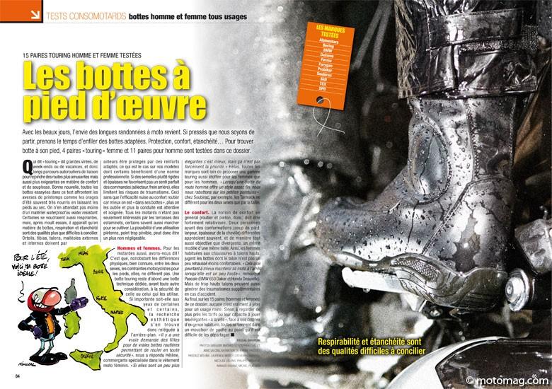 Moto Vente Homme Test Touring Et Femme Bottes Qsrdth