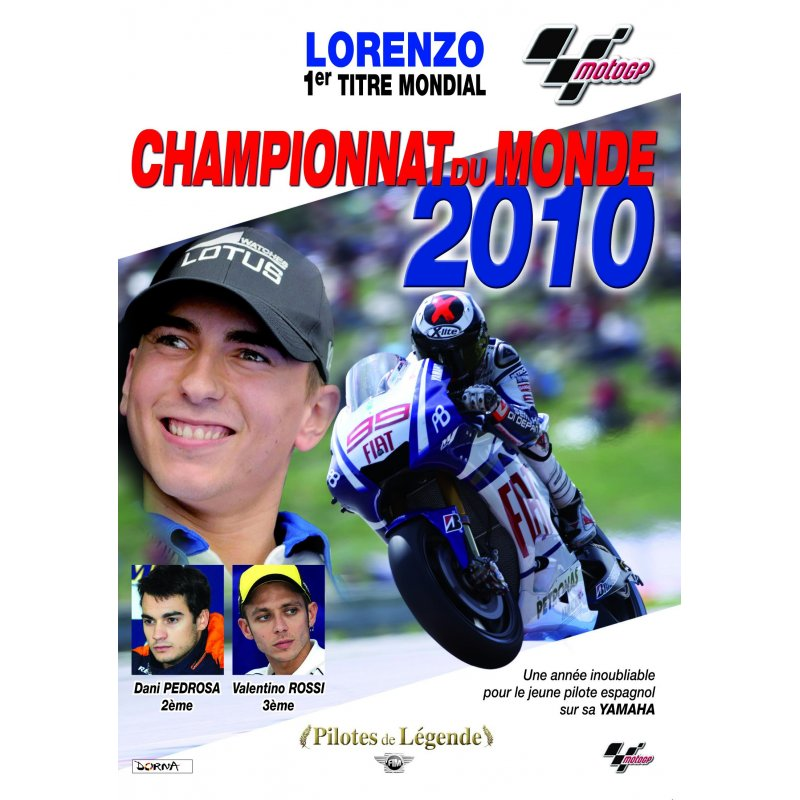 dvd moto n 25 moto gp championnat du monde 2010 lorenzo 1er titre mondial. Black Bedroom Furniture Sets. Home Design Ideas