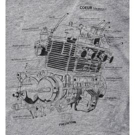 Collector : T-shirt GRIS moteur CB 750 de Moto Magazine