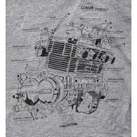 Tee-shirt HONDA CB 750 GRIS Moto Magazine