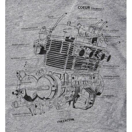 Collector : T-shirt GRIS moteur CB 750 de Moto Magazine