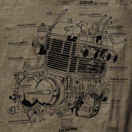 Collector : T-shirt KAKI moteur CB 750 - Moto Mag