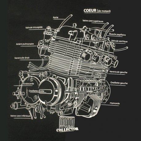 Collector : T-shirt NOIR moteur CB 750 de Moto Magazine