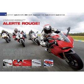 Essai Ducati Panigale S, Aprilia RSV4 R, BMW S 1000 RR, Honda CBR 1000 RR, Suz GSX-R 1000 (2012)
