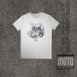 Tee-shirt DUCATI twin en L 750 GT et SS - BLANC CASSE Moto Magazine