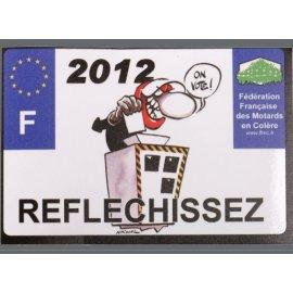 """Motocollant FFMC """"2012... réfléchissez"""" grand format"""