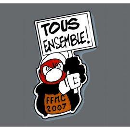 """Pin's moto FFMC 2007 : """"Tous ensemble !"""""""