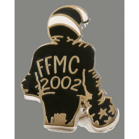 """Pin's moto FFMC 2002 : """"Le motard boxeur"""""""