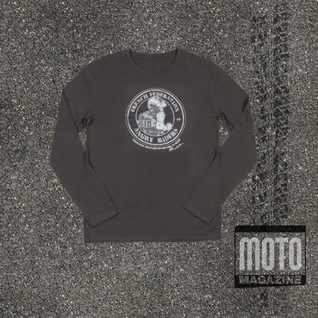 """T-shirt """"Angry Riders"""" des Motards en colère (anthracite manches longues)"""