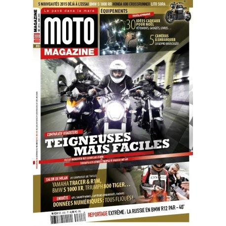 Moto Magazine n° 313- Décembre 2014 - Janvier 2015 - couverture