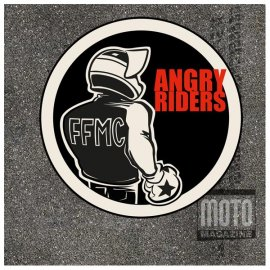 "Lot de 2 motocollants FFMC ""Angry Riders"""