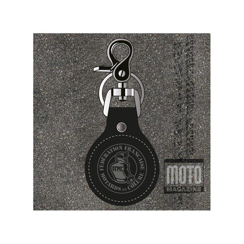 Vente Porteclef Cuir FFMC Pour Moto Et Motard - Porte clef cuir