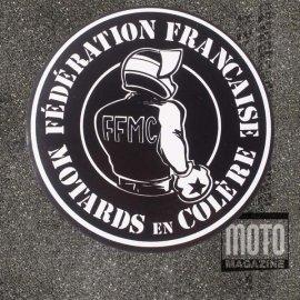 """Lot de 2 motocollants FFMC """"Motards en Colère"""""""