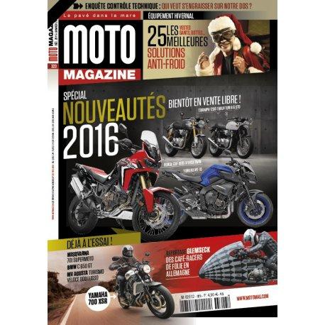 Moto Magazine n° 323 – Déc. 2015/Janv. 2016