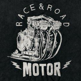 Tee-shirt SUZUKI GSX-R Race et Road Motor noir