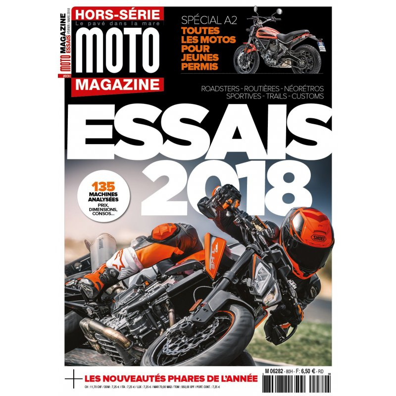 moto magazine hors s rie essais 2018 boutique moto magazine t shirts dvd bd magazines. Black Bedroom Furniture Sets. Home Design Ideas