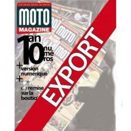 Abonnement mensuel à Moto Magazine pour l'EXPORT + archives numériques