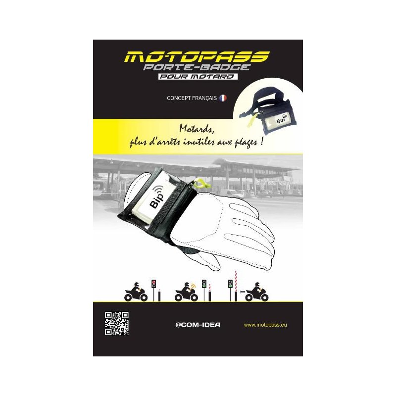 achat motopass porte bo tier t l p age autoroutier et bip garage pour moto. Black Bedroom Furniture Sets. Home Design Ideas