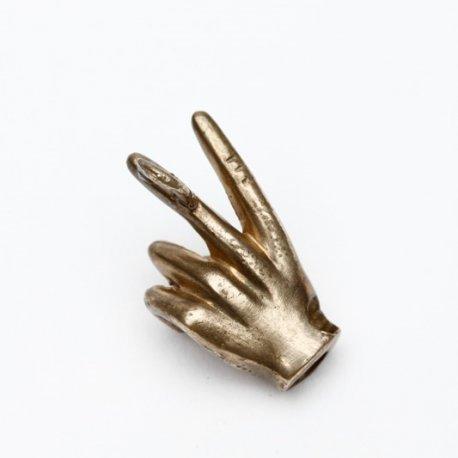 Bracelet bijou V Motard en bronze