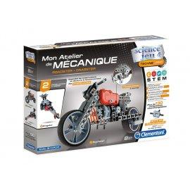 Mon atelier de mécanique CLEMENTONI moto roadster + dragster