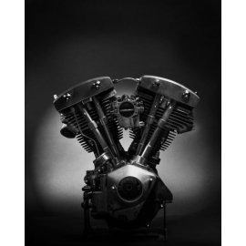 Photo d'art 40 X 50 de Grégory Mathieu : Moteur Harley Shovel Head