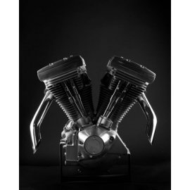 Photo d'art 40 X 50 de Grégory Mathieu : Moteur Harley Evolution