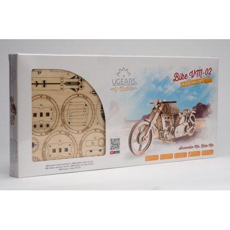 Moto UGEARS - puzzle 3D mécanique en bois